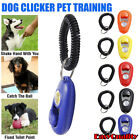 Dog Clicker Pet Puppy Training Teaching Tool Toys Slient Obedience Wrist Strap