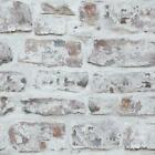 Arthouse Realistic White Washed Rustic Old Brick Wallpaper 671100