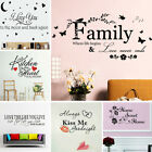 Quote Mural Word Art Vinyl Wall Sticker Home Kitchen Room Decal Decor Removable.