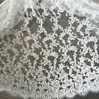Off-White Lace Fabric Bridal Dress Overlay Round Spot Lace Sold by 0.5 meter