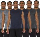 6 Pack: Men's Active Dry Fit Moisture Wicking Muscle Sleeveless Athletic...