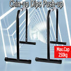 Pair Dip Bar Parallel Bars Stand Station Chin Up Push Pull Machine tower