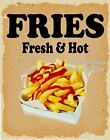 Fries Fresh Hot DECAL (CHOOSE YOUR SIZE) v Food Truck Concession Sticker