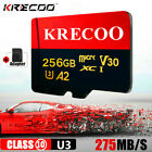 Ultra-thin 256GB Micro Memory Card Flash TF Class10 275MB/S Camera Car Phone NEW