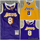 NWT Men's Kobe Bryant Jersey Los Angeles Lakers Purple And yellow # 8 throwbacks on eBay