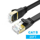 Cat8 Flat Ethernet Cable Network Internet Cable For Laptop Modems Gaming USA