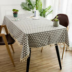 Linen Rectangle Tablecloth DustProof Table Cover Cloth for Party Kitchen Dinning