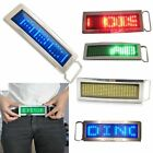 Programmable LED Light Text Screen Display Scrolling LED Chrome Belt Buckle