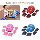 6/7pc Kids Girl Boy Safety Protective Knee/Elbow/Wrist Guard Gear Pad for Sports image