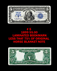 BOOKMARK MONEY LAMINATED 1918 $500-10,000 W/OTHERS REPRODUCTION COPY VARIATIONS