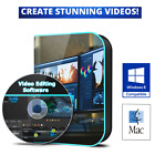 PROFESSIONAL Video Editing Software DVD for Mac OS & Windows 10 /8.1/8