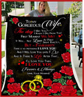 To my Wife - The day I met you Fleece Blanket
