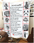 Firefighter - To my wife - Letter Fleece Blanket