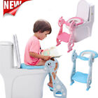 Kids Toilet Seat Ladder Baby Toddler Potty Training Step Trainer Non Slip image