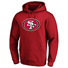 San Francisco 49ers NFL Men's Iconic Primary Logo Pullover Hoodie - New