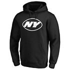 New York Jets NFL Men's Iconic Secondary Colour Logo Pullover Hoodie - New