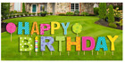 Happy Birthday Lawn/yard Letter Party Decoration Sign 15pcs 18