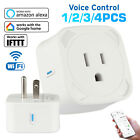 4x Wifi Smart Plug Remote Control Outlet Socket Works with Alexa&Google Home