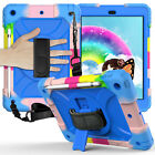 For iPad 7th Generation Case iPad 10.2 2019 Silicone 360 Rotating Cover w/ Strap