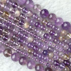 Natural Clear Purple Yellow Quartz Ametrine Crystal Smooth Round Necklace Beads