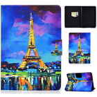 Painted Magnetic Leather Flip Wallet Stand CaseFor Amazon Kindle Paperwhite 1234