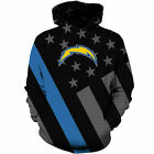 Los Angeles Chargers Football Hoodies Sweatshirt Men Casual Pullover Jacket Coat $34.23 CAD on eBay