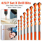 4/5/7PCS Multifunctional Drill Bits Ceramic Glass Punching Hole Working Sets