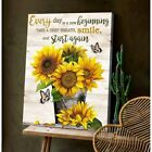 Butterfly And Sunflower Everyday Is A New Beginning Wall Decor Poster No Frame
