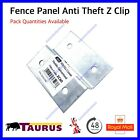 Pack of 10 Fence Panel Z Clip Bracket Anti-Theft Galvanised Steel 60x56x15x1.5mm