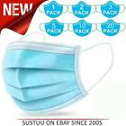 3 Ply Disposable Non Medical Face Mask│Flu Dust Mouth Nose Respiration Mask