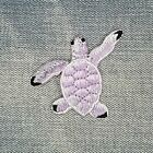 """TROPICAL SEA TURTLES rainbow colorful ocean IRON-ON Embroidered NEW 2""""x2.5"""""""