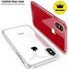 For iPhone X XR XS Max Slim Clear Case Crystal Transparent Hybrid Hard Cover