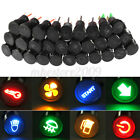 Universal 12mm LED Dash Panel Warning Pilot Lights Bulb Indicator Car Boat Truck