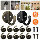 10X Rustic Cast Iron Coat Hat Wall Hooks Restore School Farm Towel Bath Kitchen