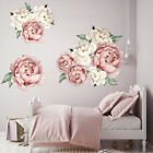 Large Peony Rose Flower Art Wall Sticker Living Room Home Background Diy Decal C