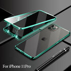 Magnetic Absorption Case For iP hone 11 Pro/Max Double Sided Glass Cover UK