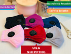Soft Cotton Breathable Adult Face Masks with Vent Washable and Reusable FROM USA