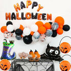 Happy Halloween Decoration Paper Garland Flag Balloon Skull Led Light Home Decor