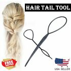 2PCS Fashion Topsy Magic Simple Tail Hair Braid Ponytail Maker Clip Styling Tool