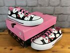 CONVERSE CTAS HELLO KITTY CANVAS LO TRAINERS GIRLS CHILDRENS T