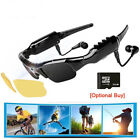Bluetooth 1080P Glasses Camera MP3 Player Sunglasses Sports Driving Camcorders