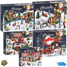 New Christmas Sets Village Train Hot Air Balloon Building Blocks Bricks Toys