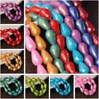 12x8mm 15x10mm Teardrop Faceted Coated Opaque Glass Loose Beads lot Wholesale
