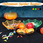 Halloween Spider Web Fruit Candy Basket Plastic Plate Party Decor Bowl Supplies