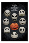 Nightmare Before Christmas Many Faces Of Jack FRAMED CORK PIN BOARD With Pins