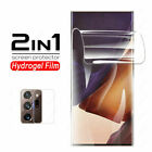 For Samsung Note 20 Ultra Soft Cover Case +Lens Film +Hydrogel Screen Protector