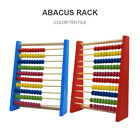 Colorful Wooden Beads 10-row Abacus Frame Math Counting Kids Educational Toys