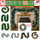 270cm (9ft) Fir Green Christmas Xmas  Garland with 160/200/280 tips Party CW UK