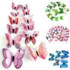 12pcs 3d Butterfly Design Decal Art Wall Stickers Room Decoration Home Decor Kit
