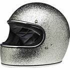 Biltwell Gringo Mega Flake Full Face Helmet - Silver, All Sizes